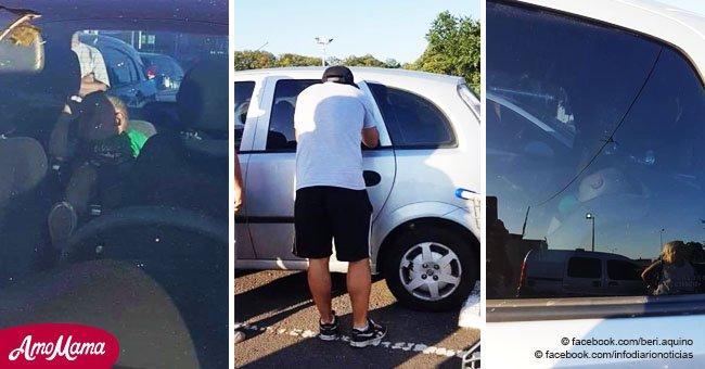 Le sauvetage dramatique d'un bébé laissé quatre heures dans une voiture chaude pendant que ses parents faisaient leurs courses de Noël