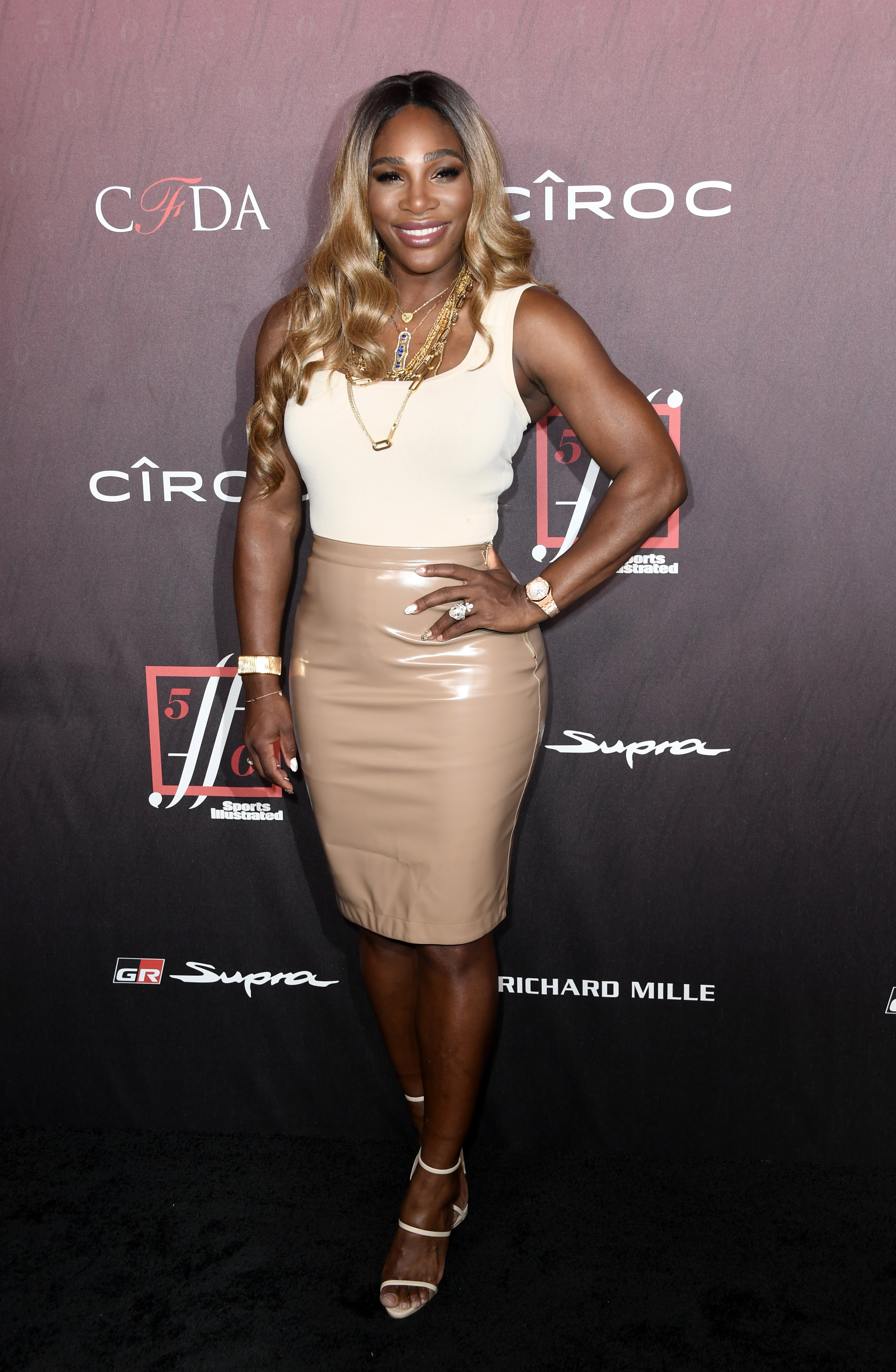 Serena Williams stunning with her blond hair at the Sports Illustrated Fashionable 50 at the Sunset Room on July 18, 2019. | Source: Getty Images