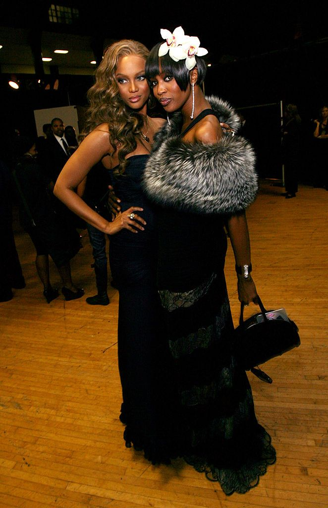Tyra Banks and Naomi Campbell at the 38th annual NAACP Image Awards in 2007 in Los Angeles | Source: Getty Images