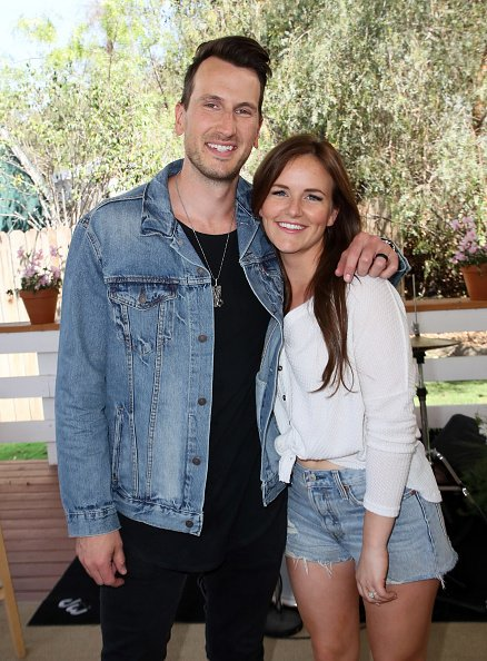 Russell Dickerson and wife Kailey Dickerson on April 11, 2018 in Universal City, California.   Photo: Getty Images