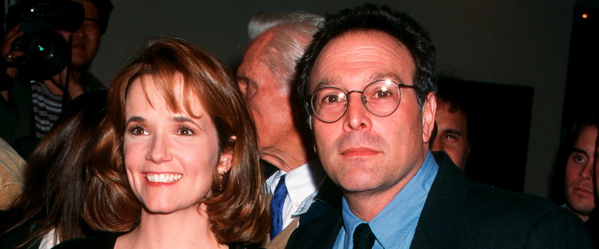 """Lea Thompson and Howard Deutch at the premiere of """"Grumpier Old Men,"""" at Mann Bruin Theater, Westwood on December 14, 1995