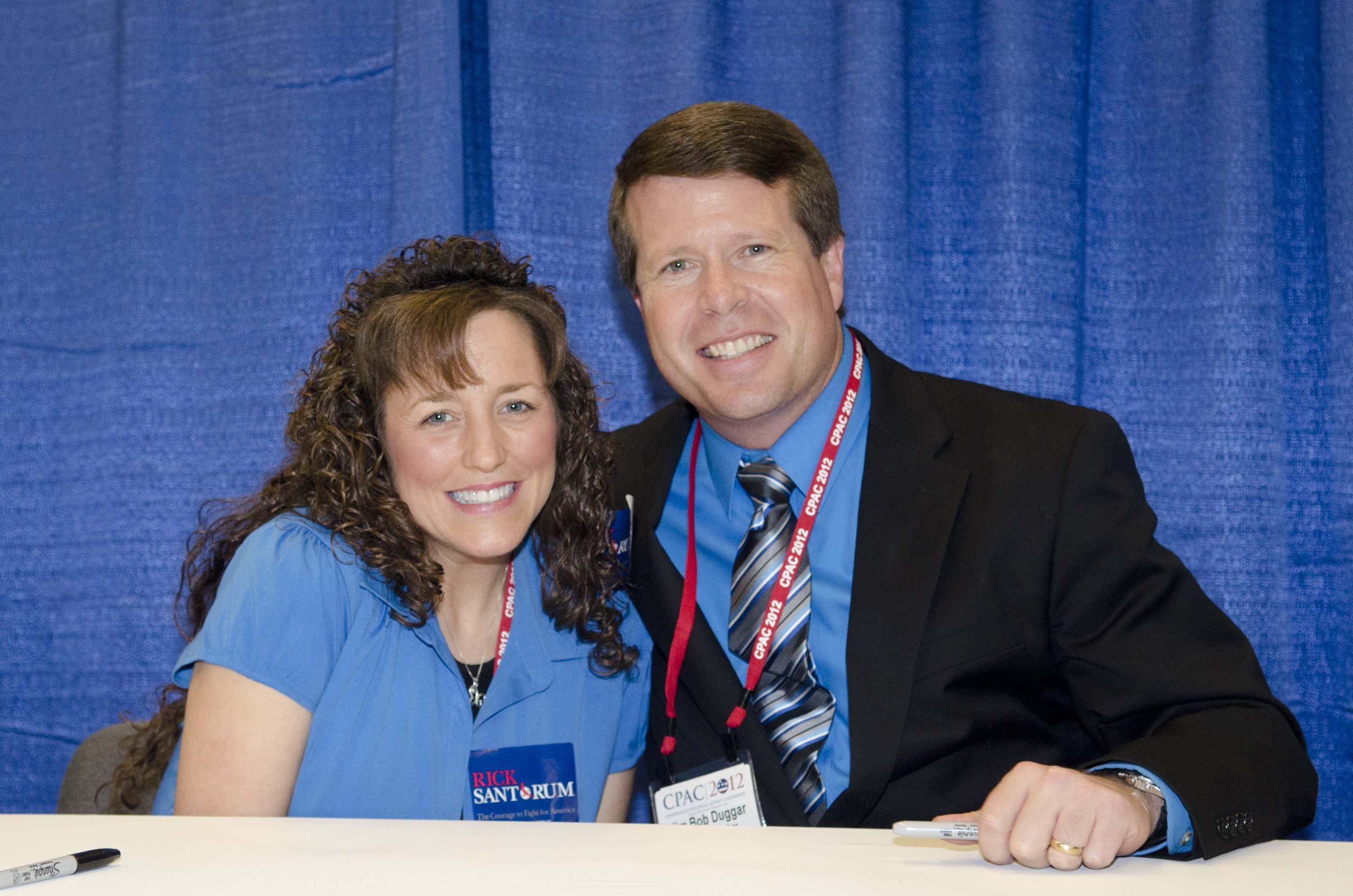 Michelle Duggar and husband Jim Bob Duggar during a 2012 book promotional tour in Washington. | Photo: Getty Images
