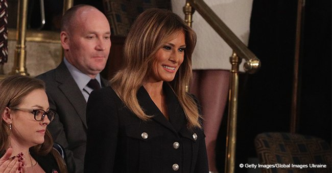 Melania Trump is under fire for wearing just one glove during the president's SOTU speech