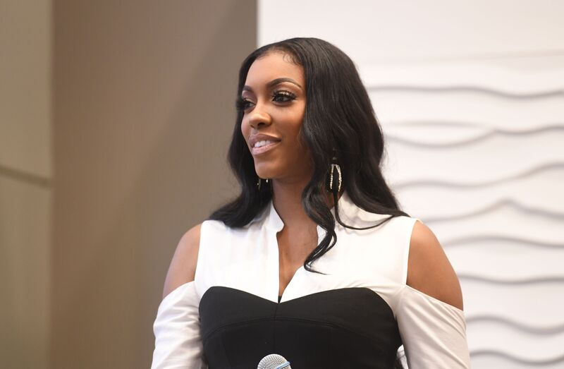 Porsha Williams at a speaking engagement | Source: Getty Images/GlobalImagesUkraine