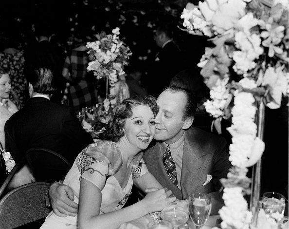Comedian Jack Benny and wife Mary Livingston at an event in Los Angeles | Photo: Getty Images