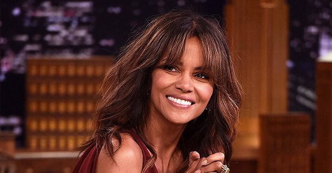 Check Out Halle Berry's Amazing Physique as She Works on Her Abs in a Skintight Jumpsuit