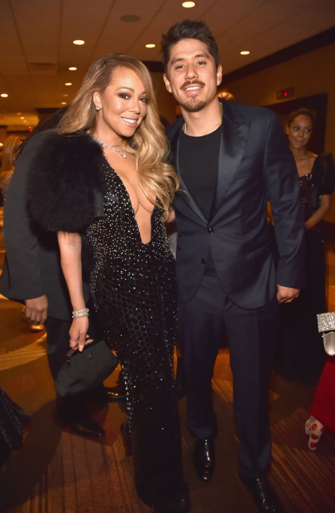 Mariah Carey au bras de Bryan Tanaka, le 27 janvier 2018 à New York. Photo : Getty Images