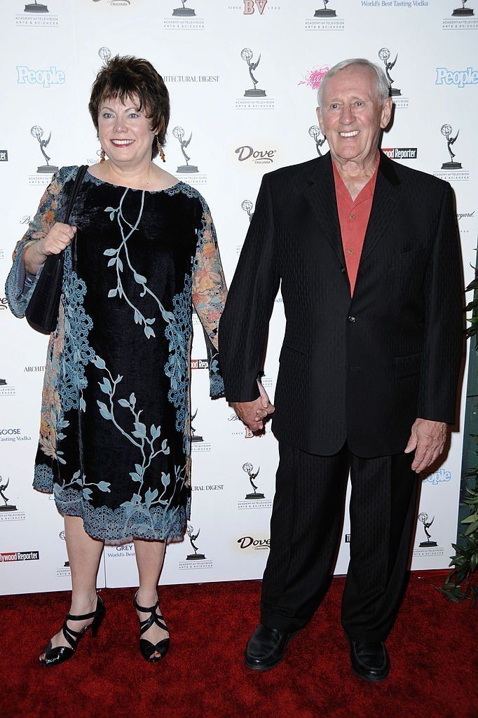 Len Cariou and wife Heather arrive at the 61st Primetime Emmy Awards performer nominee reception | Getty Images