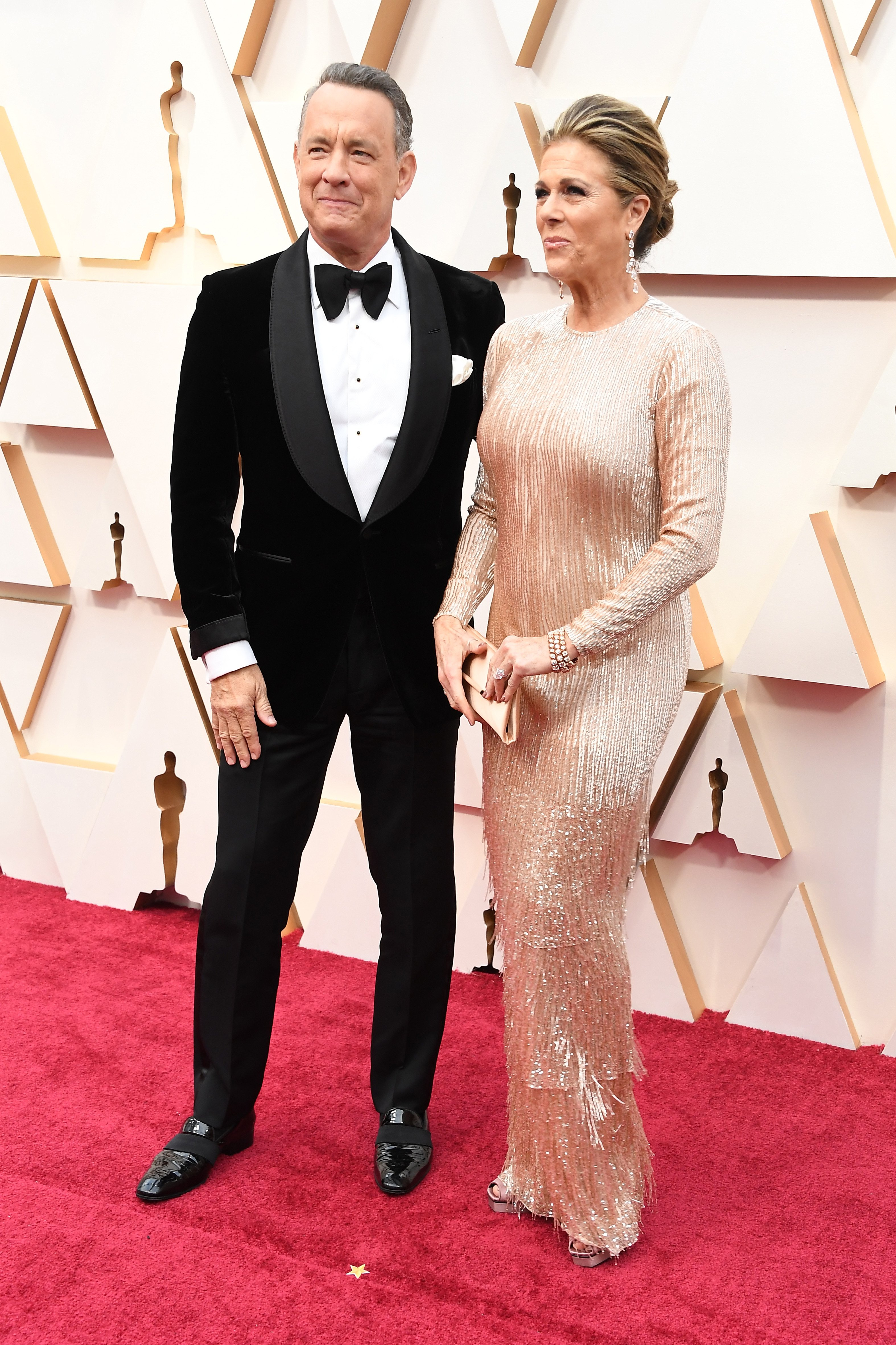 Tom Hanks and Rita Wilson arriving at the 92nd Academy Awards on Sunday, February 9, 2020 at the Dolby Theatre at Hollywood & Highland Center in Hollywood, CA. | Source: Getty Images