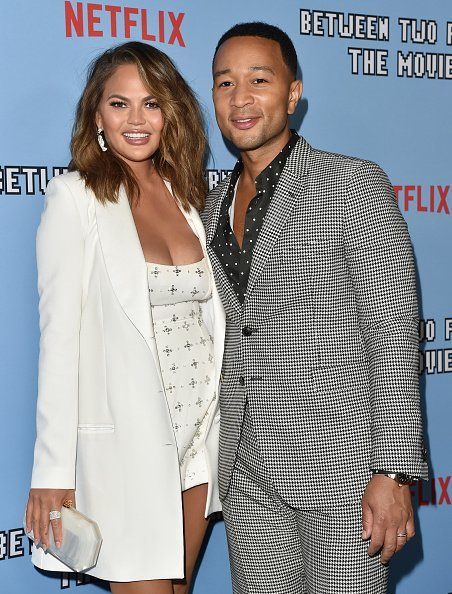 "Chrissy Teigen and John Legend at the LA Premiere of Netflix's ""Between Two Ferns: The Movie"" 