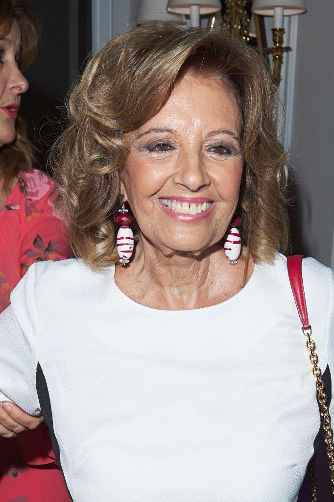 María Teresa Campos en el Hotel Villamagna el 12 de julio de 2017 en Madrid, España. | Imagen: Getty Images