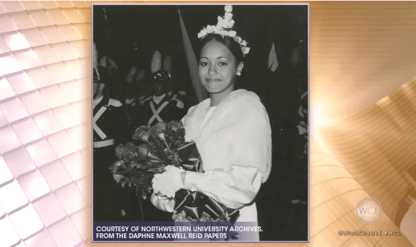Daphne Maxwell Reid as the homecoming queen at her university in 1967 | Photo: YouTube/ABC 7 Chicago