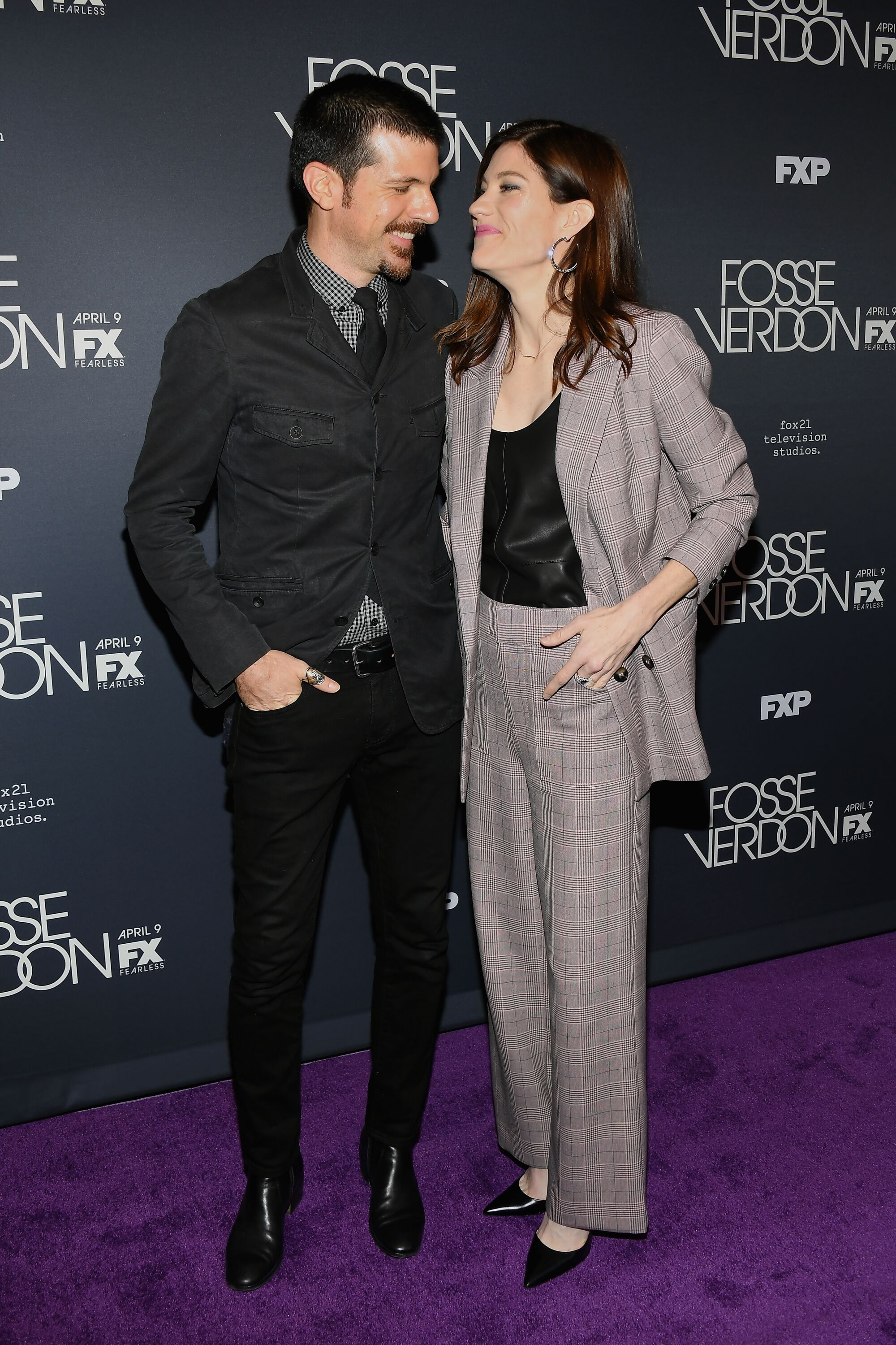 "Seth Avett and Jennifer Carpenter attend the New York Premiere for FX's ""Fosse/Verdon"" on April 08, 2019 in New York City. 