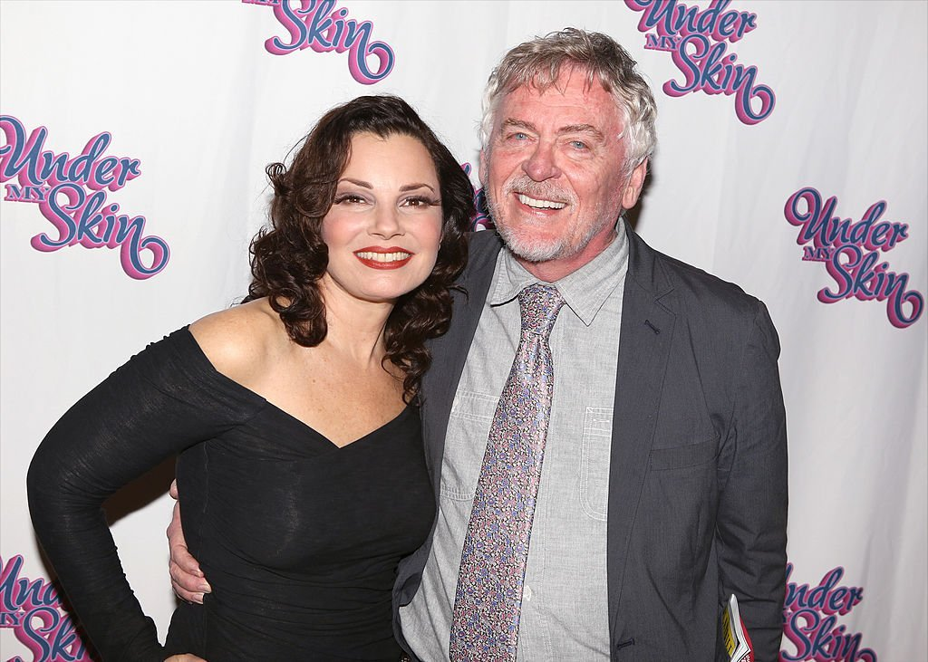 "Fran Drescher and Daniel Davis having a ""The Nanny"" reunion at the ""Under my Skin"" Opening Night After Party on May 15, 2014 