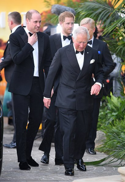 Prince William, Prince Harry, and Prince Charles attend the 'Our Planet' global premiere in London, England.   Photo: Getty Images.
