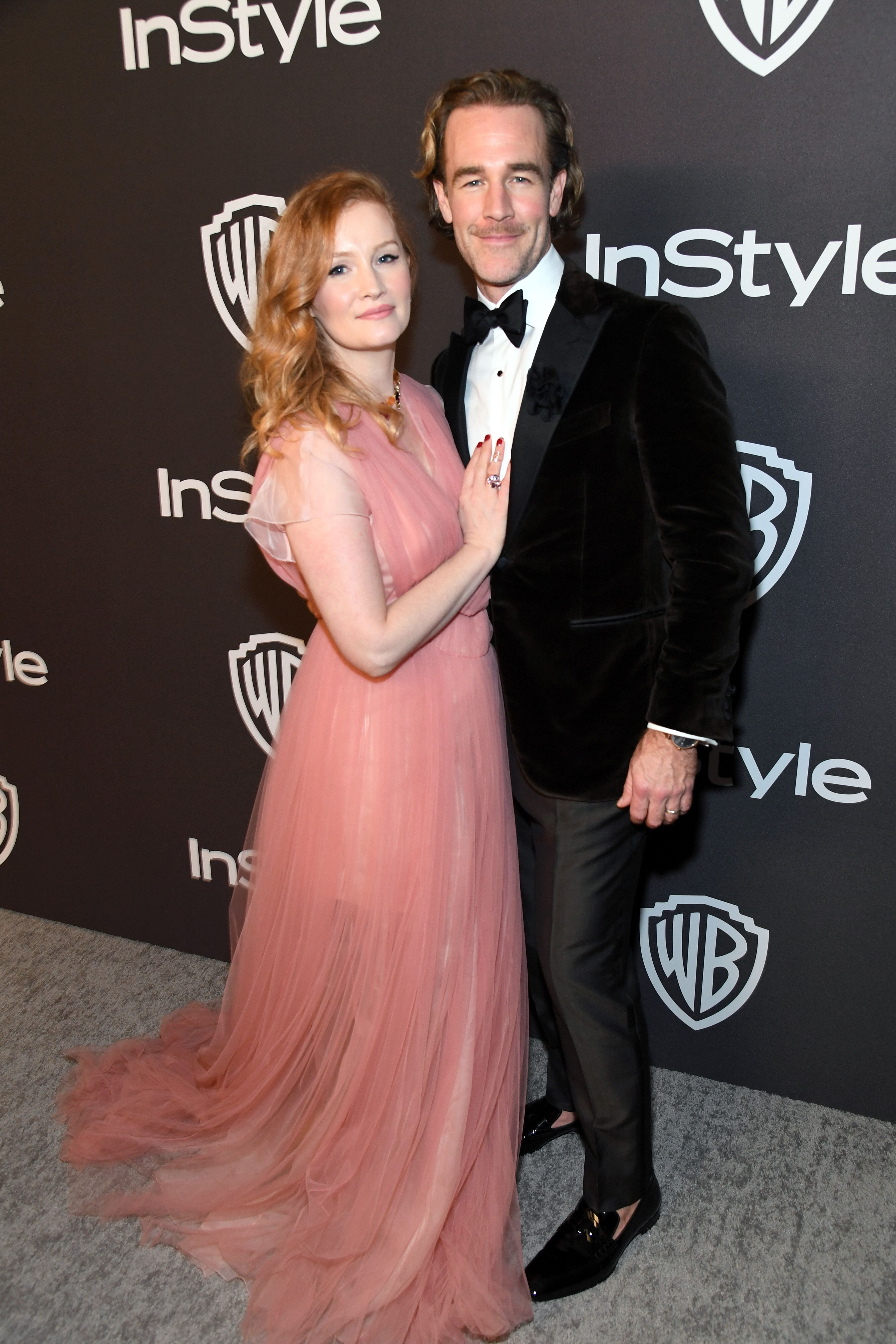 Kimberly Brook (L) and James Van Der Beek attend the 2019 InStyle and Warner Bros. 76th Annual Golden Globe Awards Post-Party at The Beverly Hilton Hotel on January 6, 2019 in Beverly Hills, California | Photo: Getty Images