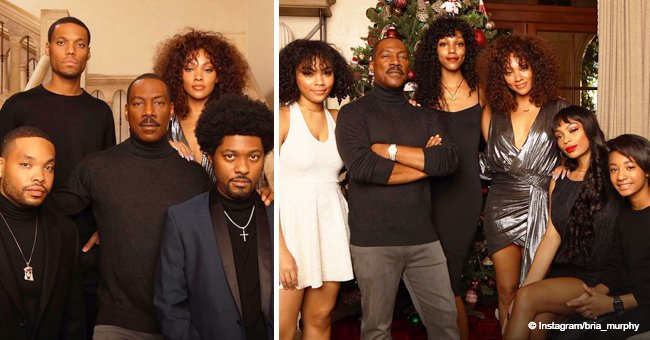 Eddie Murphy and his children pose together for their annual Christmas photos