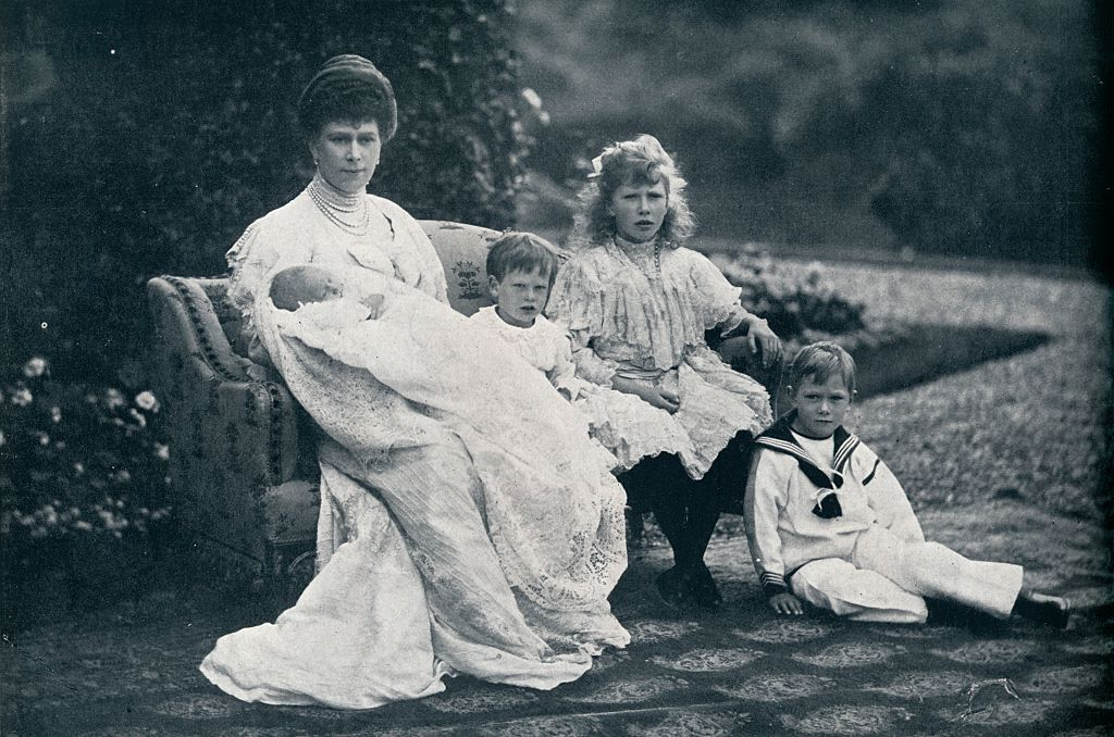 Image Credits: Getty Images/ Queen Mary and four of her children
