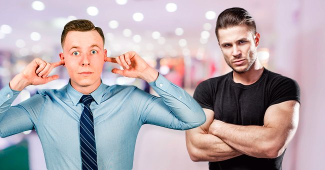 The store clerk would soon give the muscular guy a silent treatment.   Photo: Shutterstock