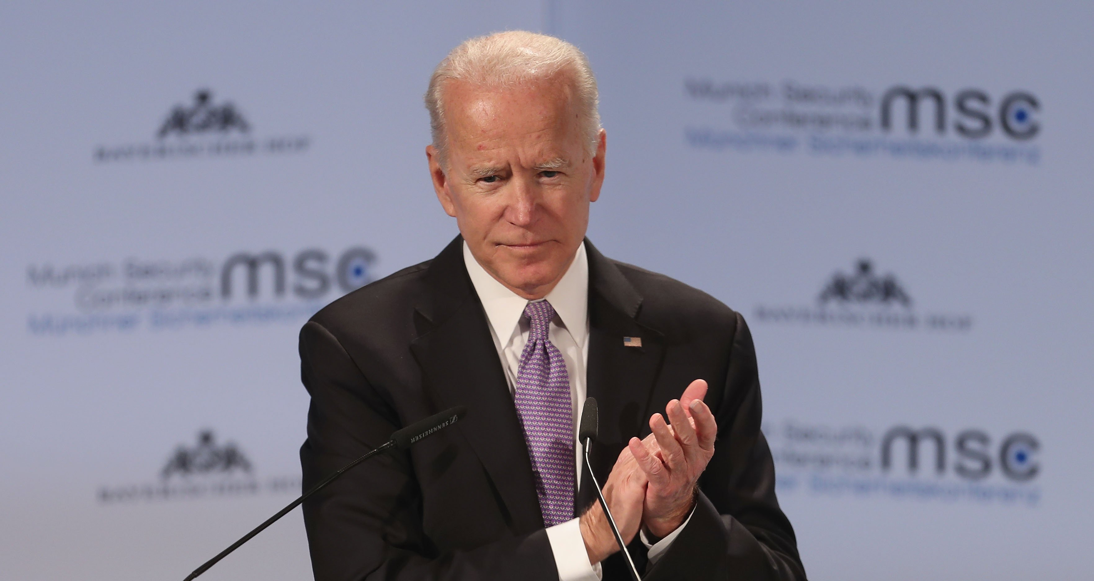 Joe Biden delivering a speech during the 55th Munich Security Conference in Munich, Germany | Photo: Getty Images