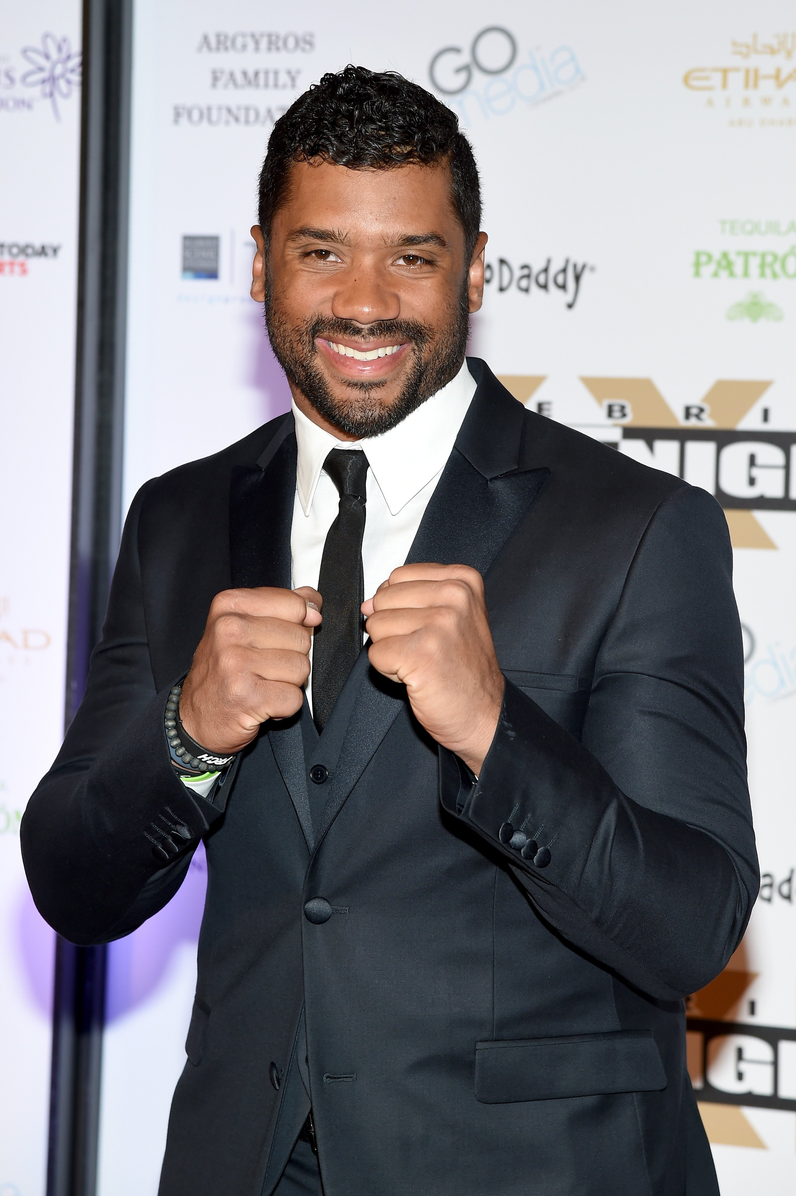 Russell Wilson at Muhammad Ali's Celebrity Fight Night XXI at the JW Marriott Phoenix Desert Ridge Resort & Spa on March 28, 2015 in Phoenix, Arizona.|Source: Getty Images