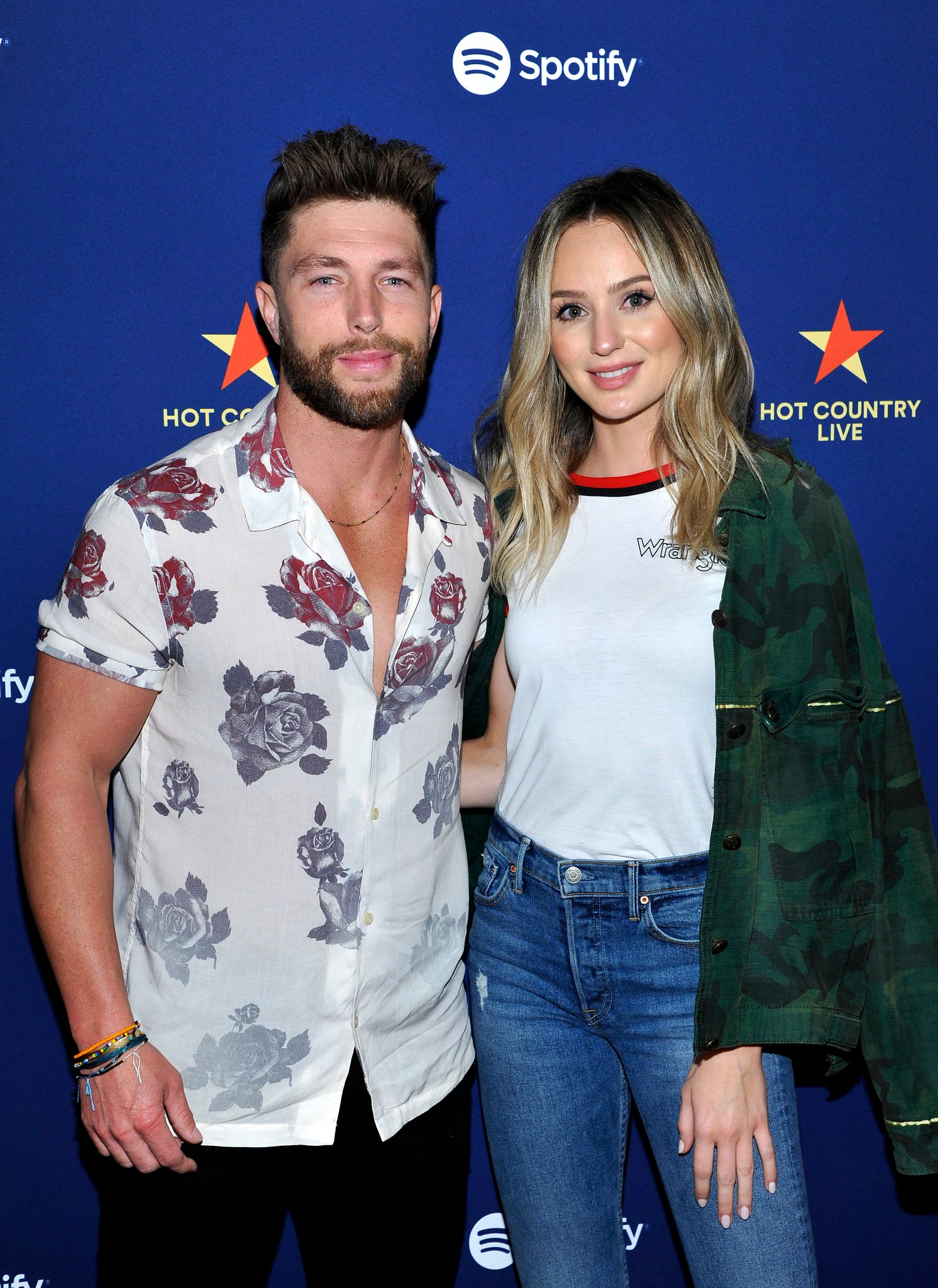 Chris Lane and Lauren Bushnell at Spotify's Hot Country Live Presents Florida Georgia Line in February 2019 in Los Angeles, California   Source: Getty Images