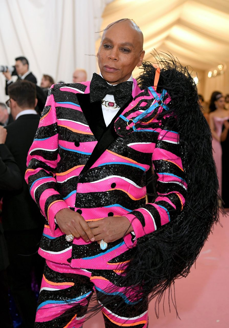 RuPaul attends The 2019 Met Gala Celebrating Camp: Notes on Fashion at Metropolitan Museum of Art on May 06, 2019 in New York City. | Source: Getty Images