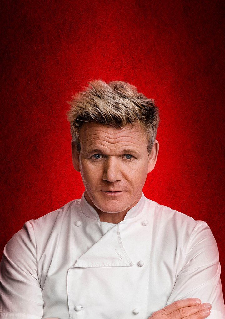 """Gordon Ramsay posing for a promotional photo for his show """"Hell's Kitchen"""" in September 2018. I Image: Getty Images."""