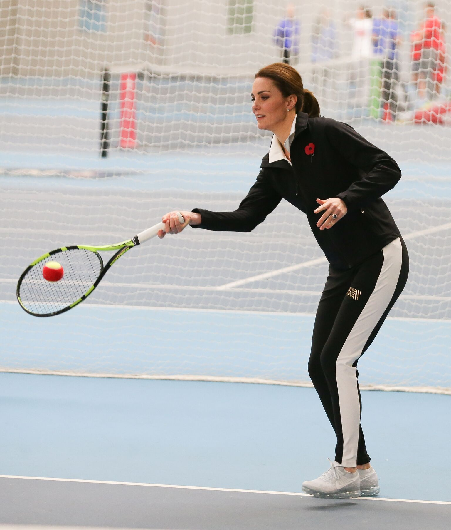 , Duchess of Cambridge plays a Tennis for Kids session at the Lawn Tennis Association | Getty Images