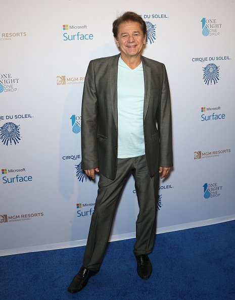 """Adrian Zmed arrives at the """"One Night For ONE DROP"""" blue carpet event at 1 OAK Nightclub 