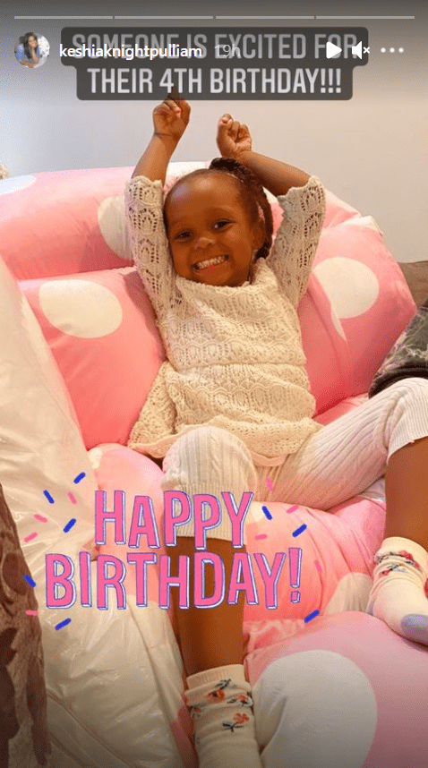 A picture of Ella Grace, daughter of actress Keshia Knight Pulliam, looking excited for her birthday. | Photo: Instagram/keshiaknightpulliam