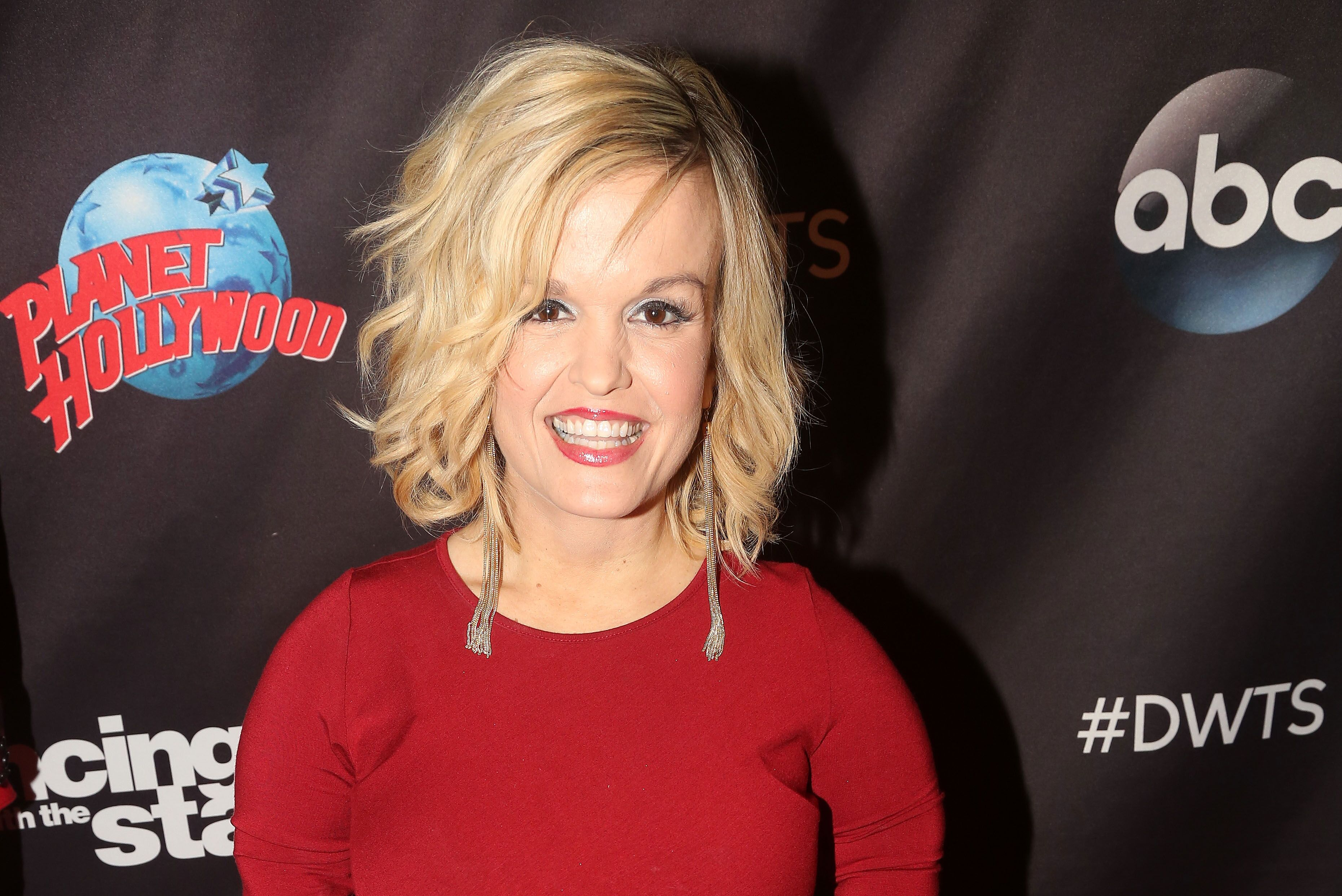 """Terra Jole poses as Season 23 of """"Dancing With The Stars"""" meets the press at Planet Hollywood Times Square in New York City   Photo: Getty Images"""