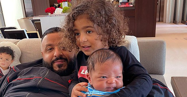 DJ Khaled Spends Time with His Sons Asahd and Aalam in Recent Photo
