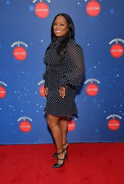 "Actor Keshia Knight Pulliam attends Say ""Santa!"" with It's A Wonderful Lifetime photo experience at Glendale Galleria in Glendale, California 