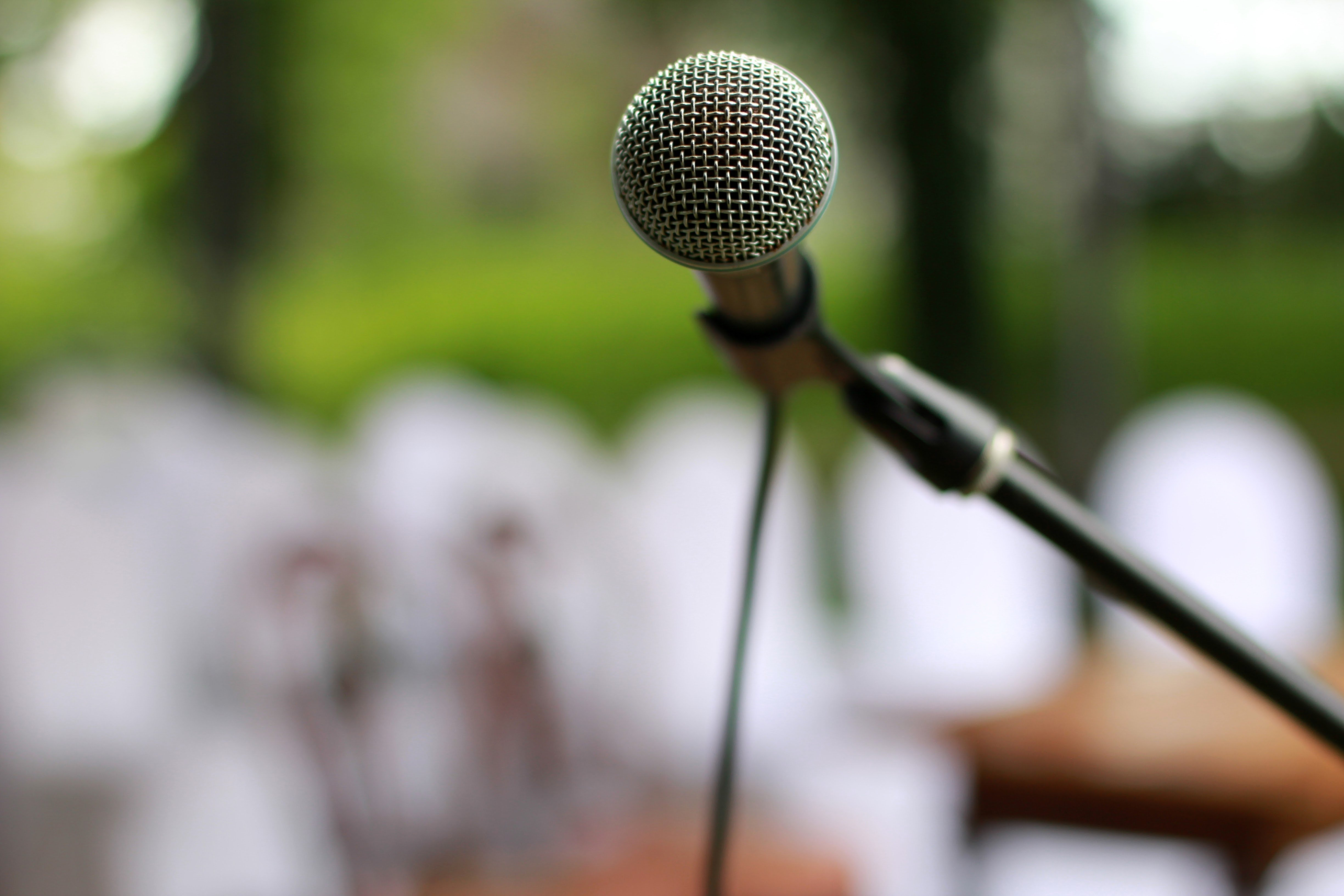 I was anxious as Mary approached the microphone | Photo: Pexels