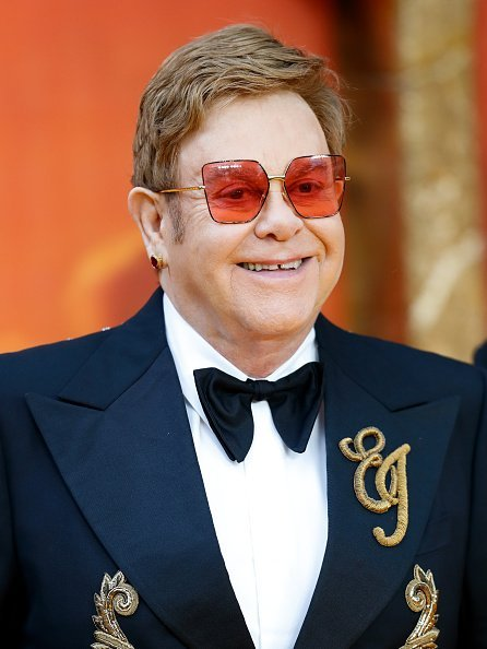 Elton John at Leicester Square on July 14, 2019 in London, England | Photo: Getty Images
