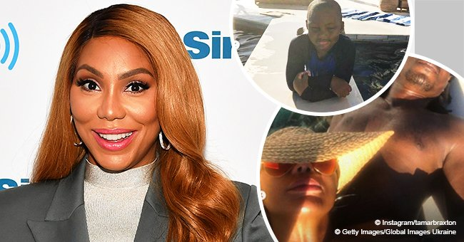 Tamar Braxton grabs attention in photos with new boyfriend and son during lavish vacation