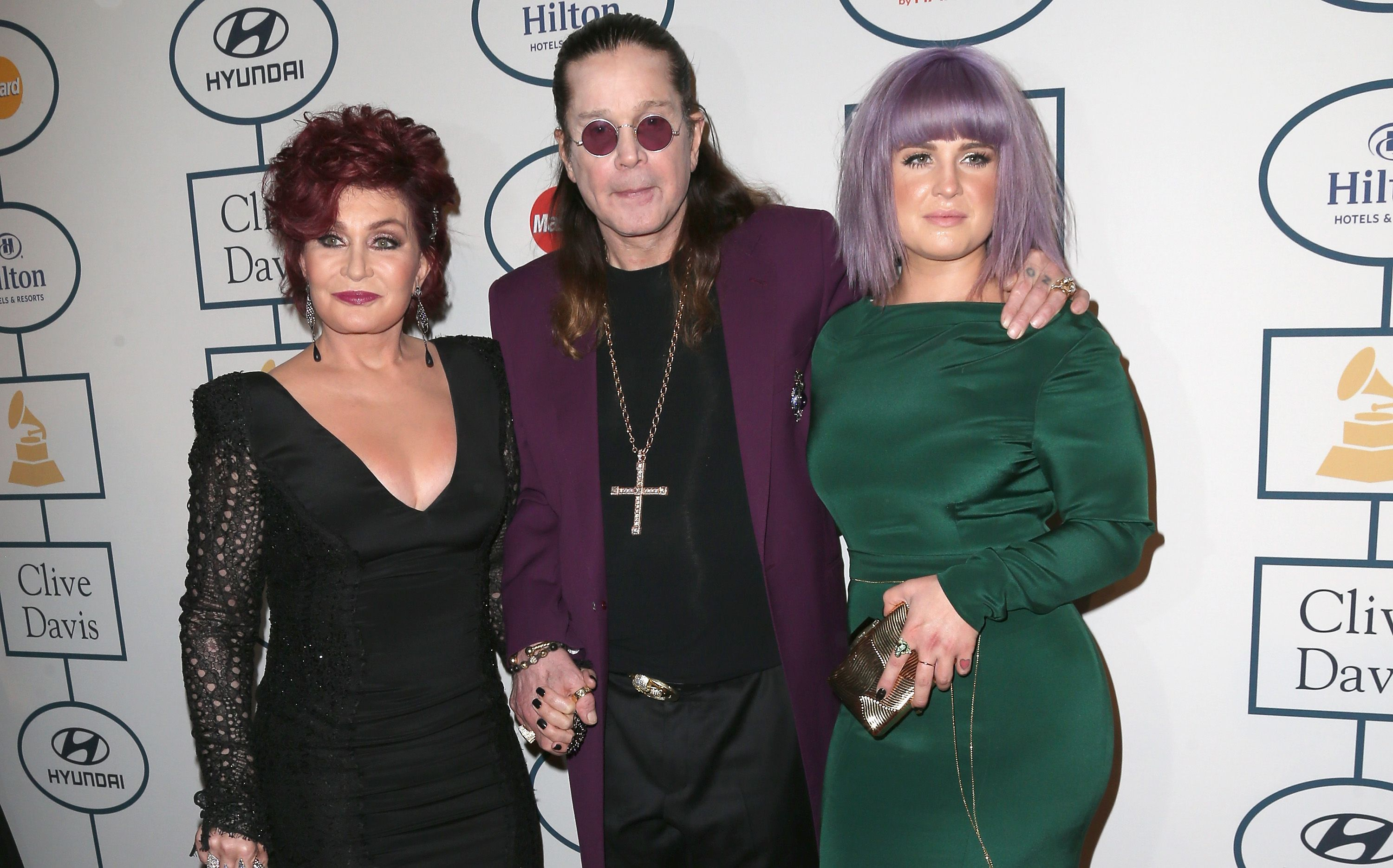 Sharon Osbourne, Kelly Osbourne, and Ozzy Osbourne during the 56th annual GRAMMY Awards Pre-GRAMMY Gala and Salute to Industry Icons honoring Lucian Grainge at The Beverly Hilton on January 25, 2014 in Beverly Hills, California. | Source: Getty Images