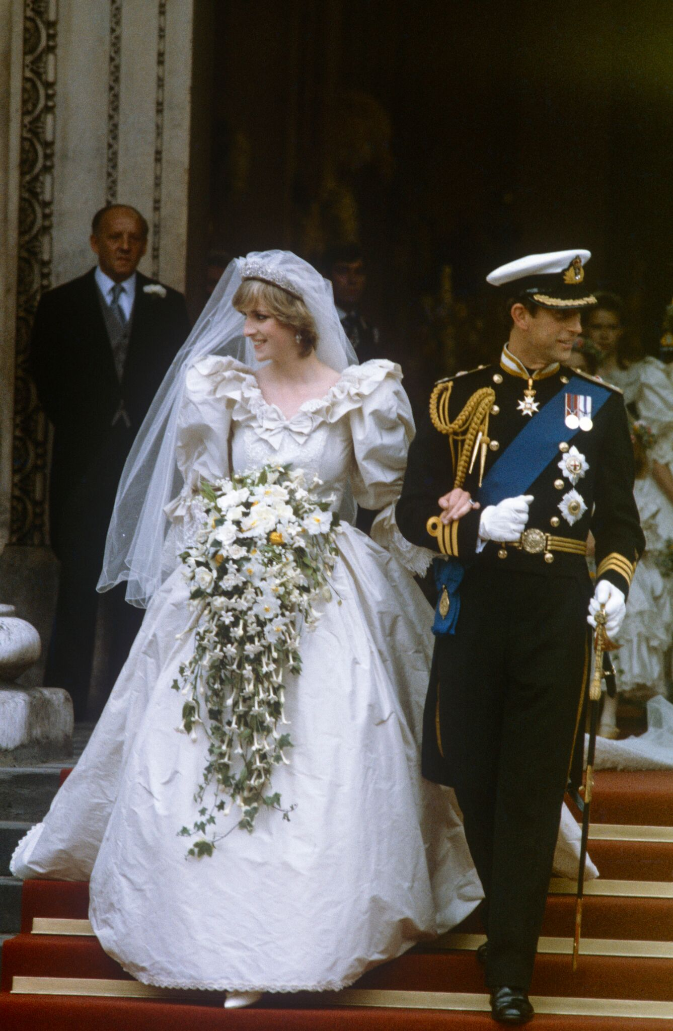 Princess Diana and Prince Charles leaving the church on their wedding day | Getty Images