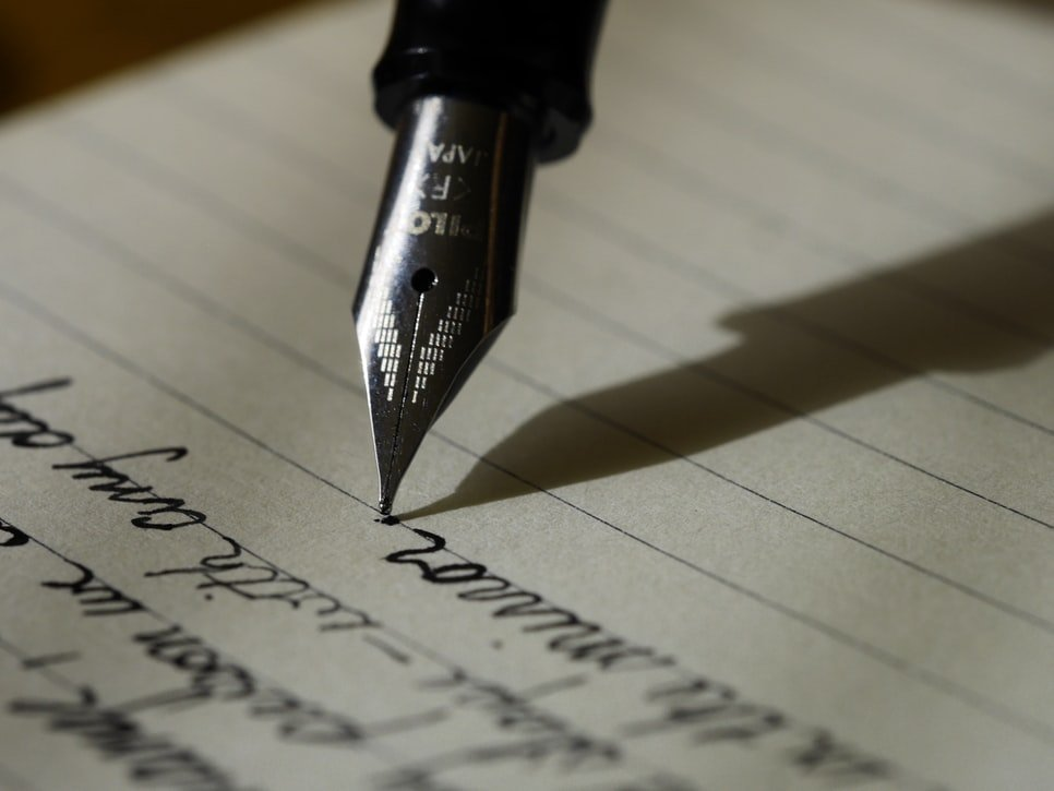 Writing with a fountain pen | Source: Unsplash
