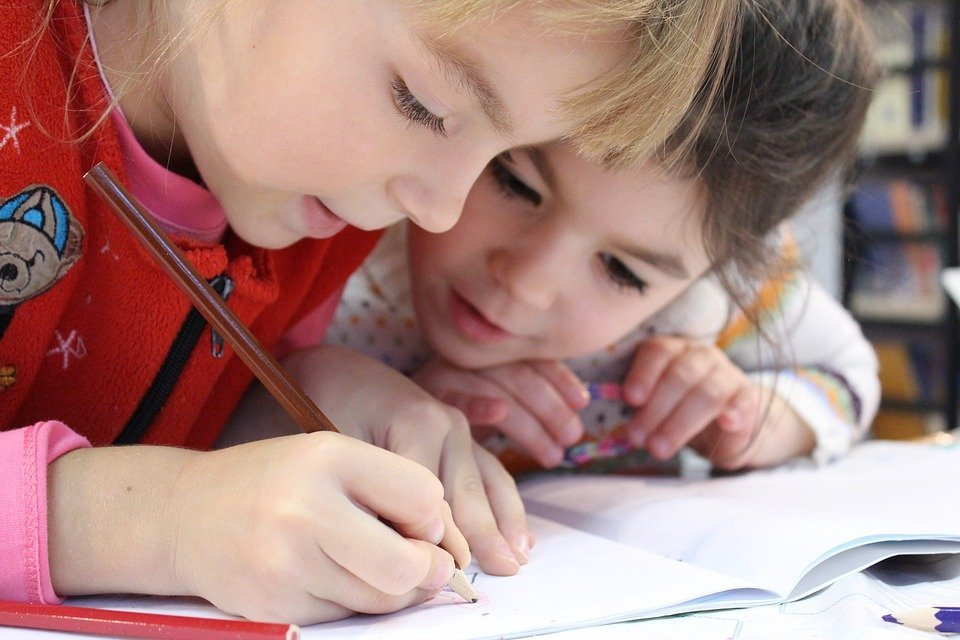 Niñas estudiando / Imagen tomada de: Pixabay