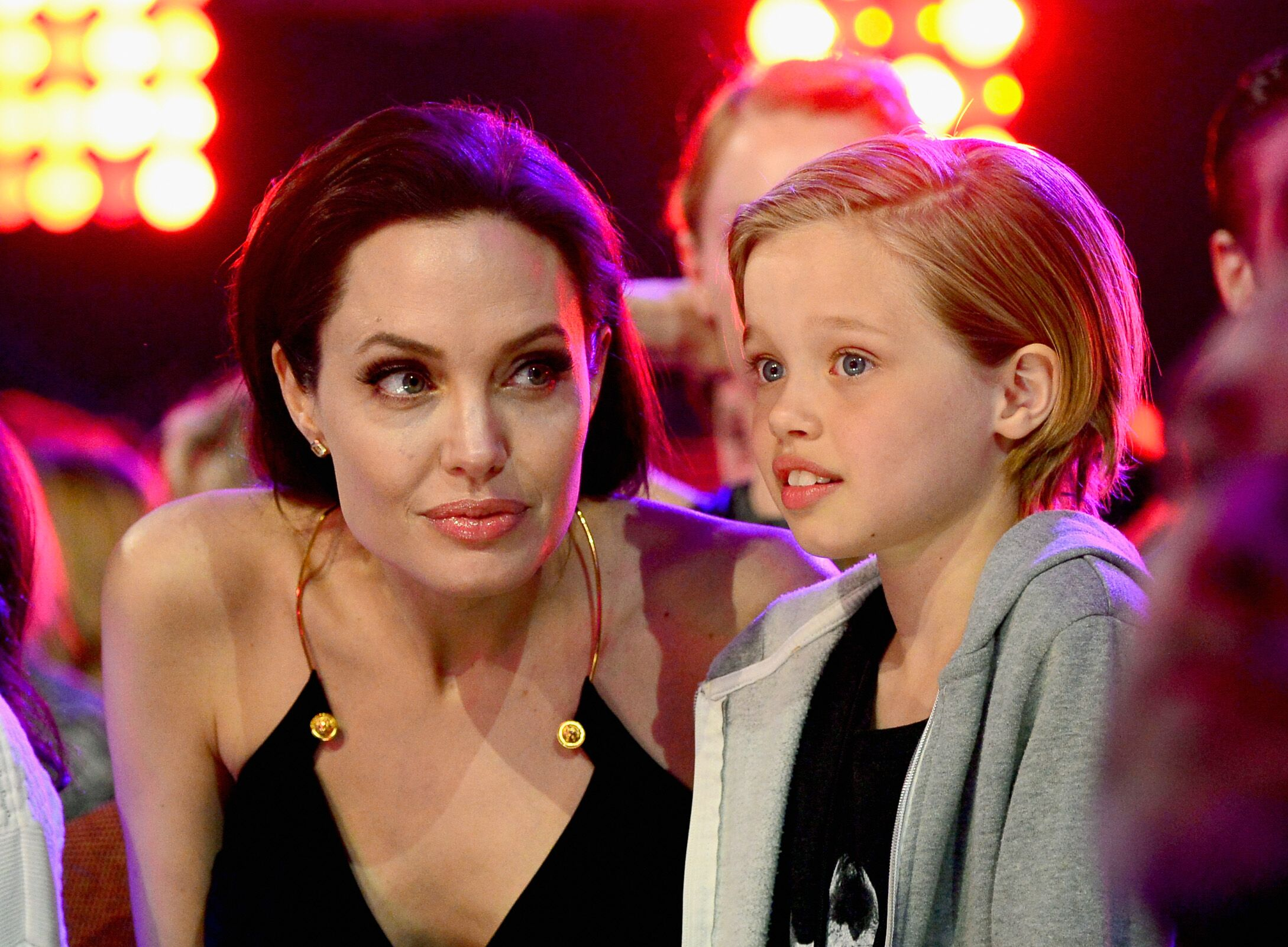 Angelina Jolie and Shiloh Nouvel Jolie-Pitt at the Nickelodeon's 28th Annual Kids' Choice Awards in 2015 | Source: Getty Images
