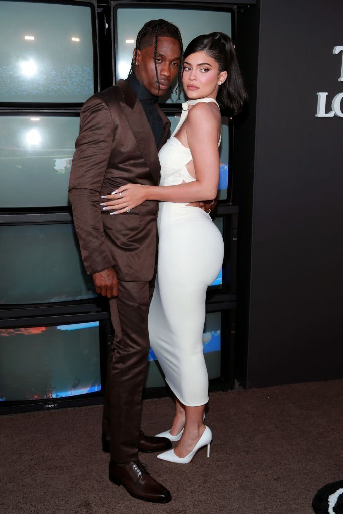 "Travis Scott and Kylie Jenner attend the premiere of Netflix's ""Travis Scott: Look Mom I Can Fly"" at Barker Hangar. 