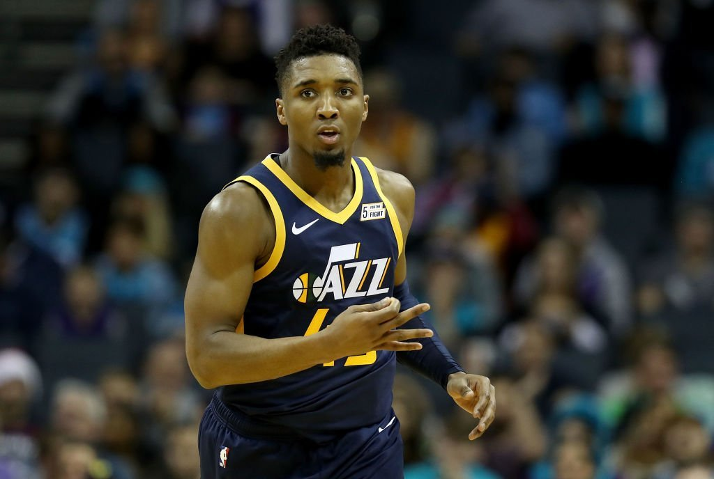 Donovan Mitchell during a game against the Charlotte Hornets in November 2018   Source: Getty Images/GlobalImagesUkraine