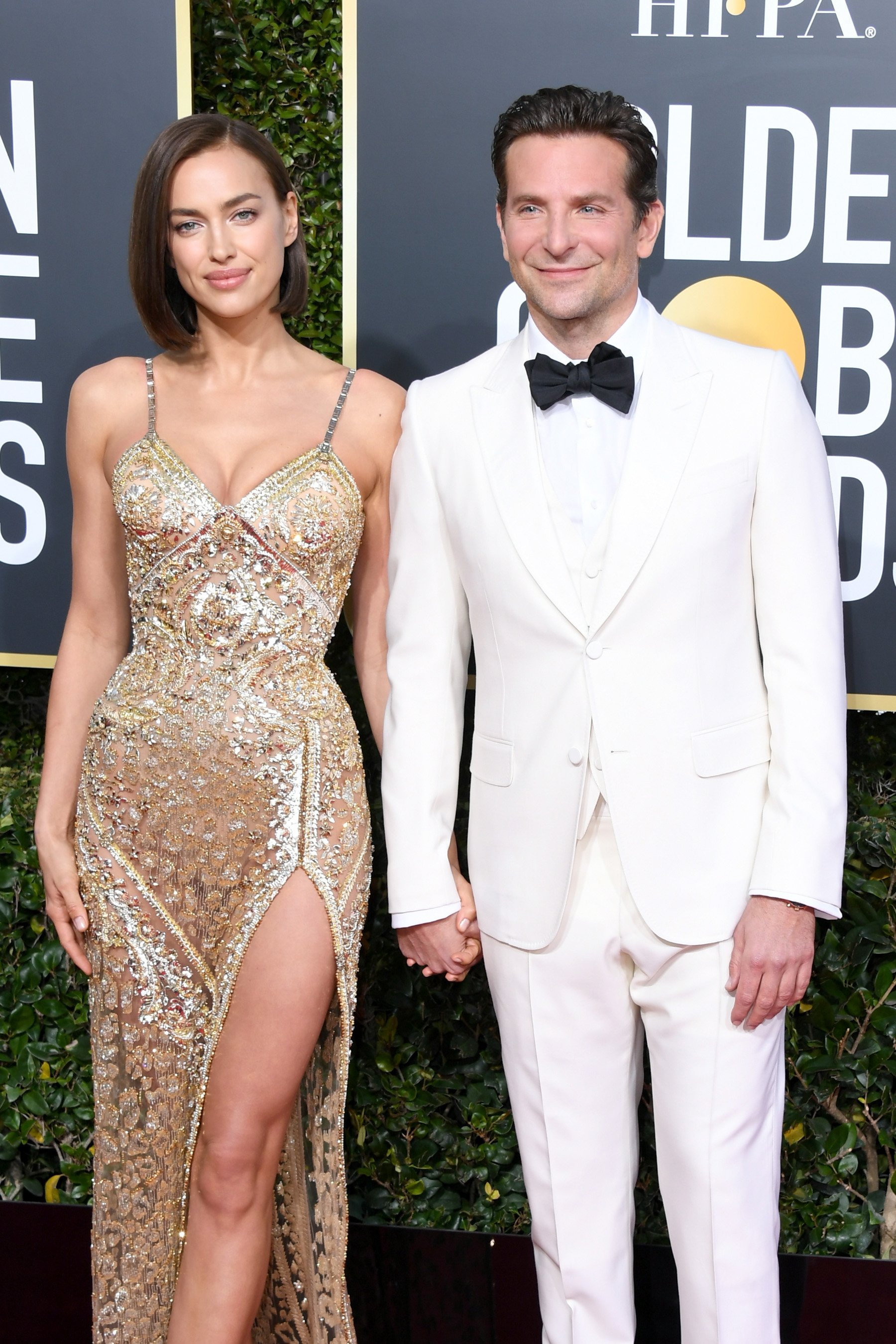 Irina Shayk and Bradley Cooper at the 76th Annual Golden Globe Awards on January 6, 2019, in Beverly Hills, California. | Photo: Getty Images