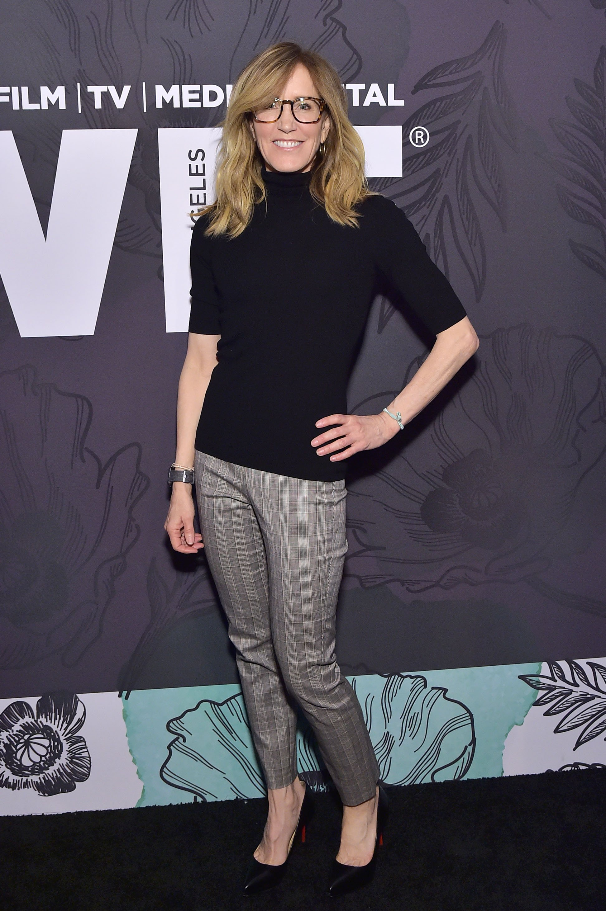 Felicity Huffman attends the 12th Annual Women in Film Oscar Nominees Party on February 22, 2019, in Los Angeles, California. | Source: Getty Images.