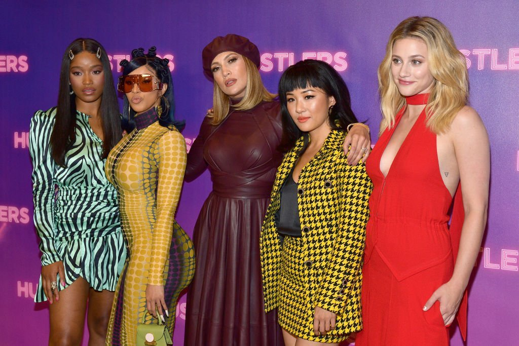"Keke Palmer, Cardi B, Jennifer Lopez, Constance Wu, and Lili Reinhart attend a ""Hustlers"" Photo Call in Los Angeles, California on August 25, 2019 