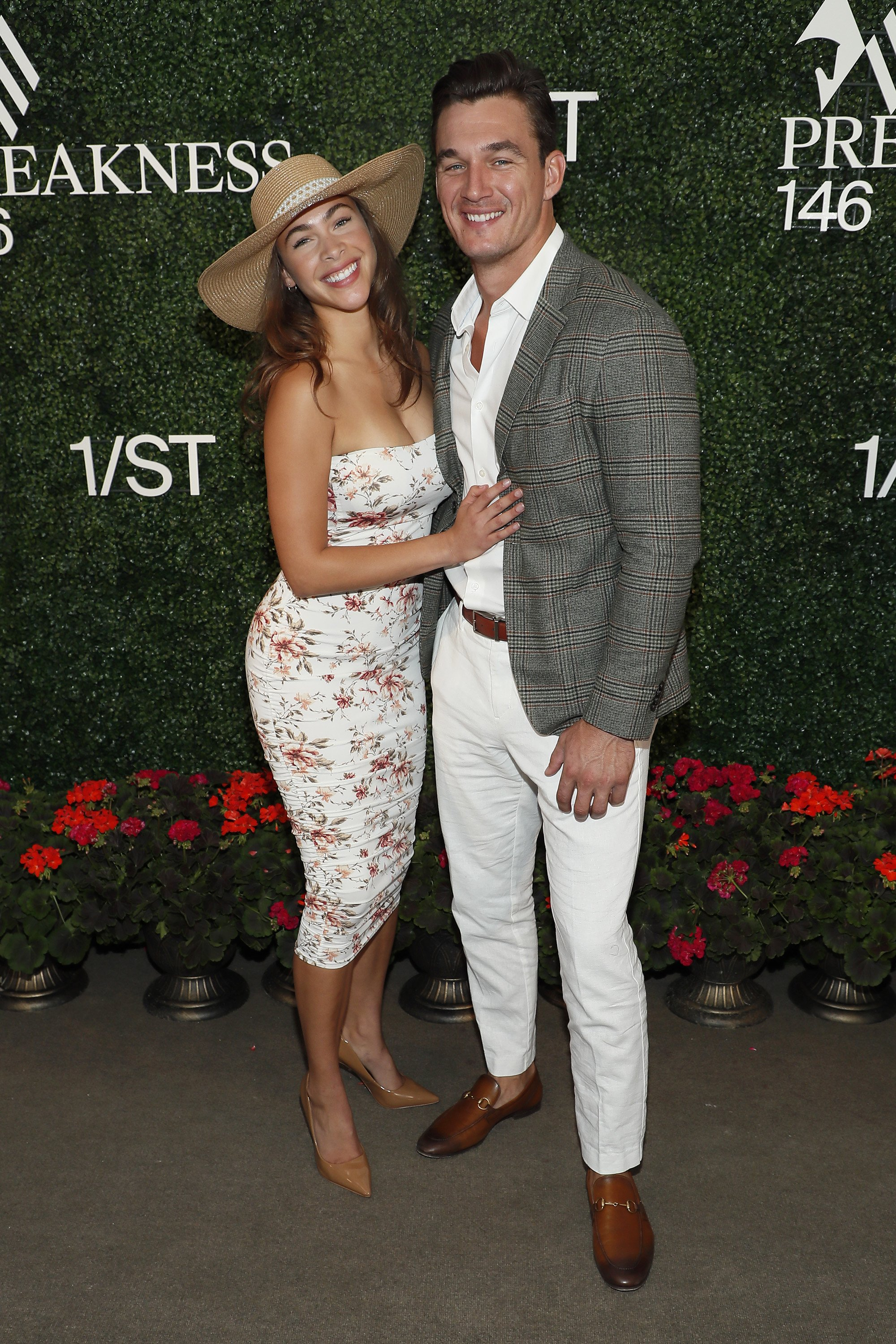 Tyler Cameron and Camila Kendra at Preakness 146 hosted by 1/ST at Pimlico Race Course in Baltimore, Maryland   Photo: Paul Morigi/Getty Images for The Stronach Group