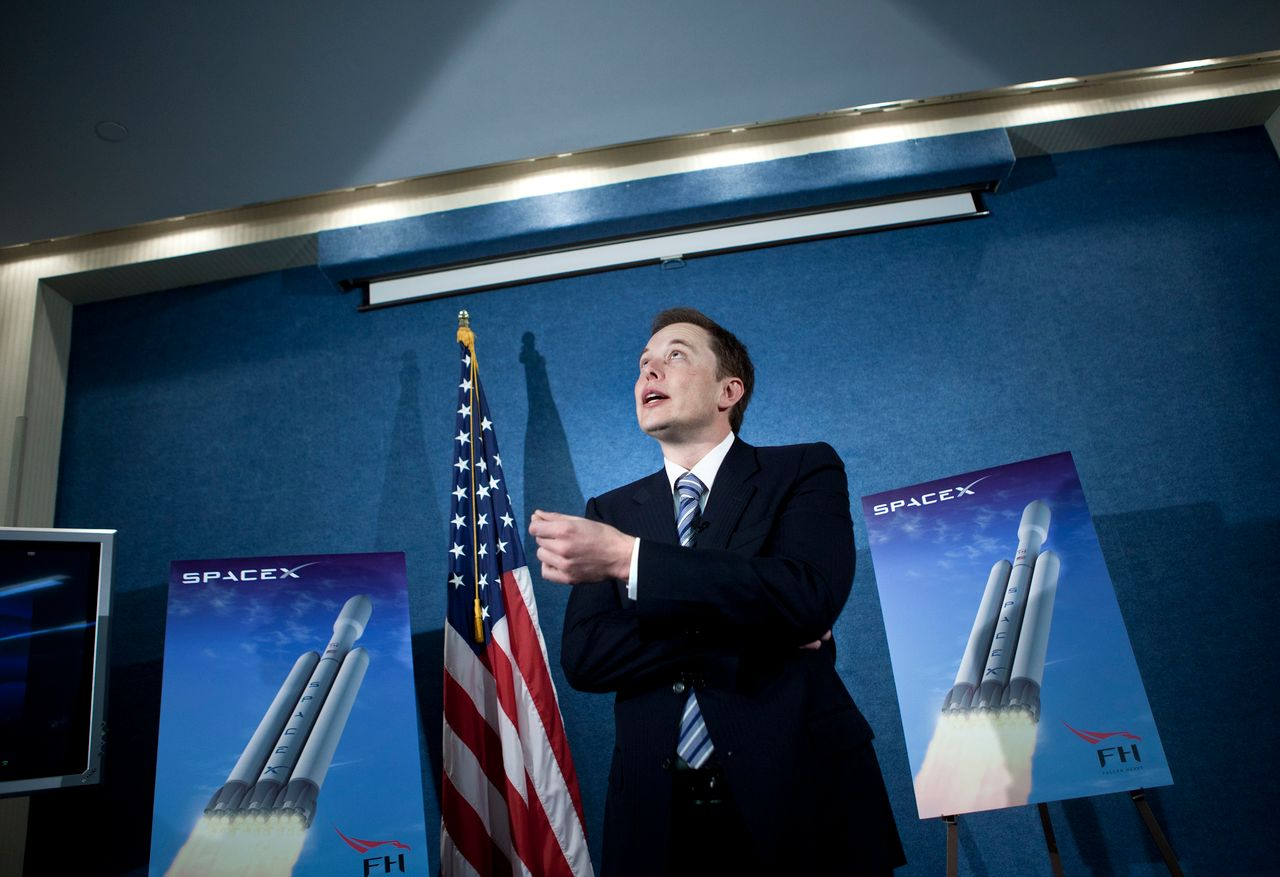 Elon Musk, CEO of Space Exploration Technologies Corp speaking during a news conference at the National Press Club April 5, 2011 in Washington DC | Photo: Getty Images