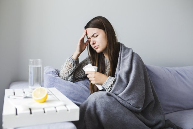 Mujer enferma | Imagen tomada de: Shutterstock